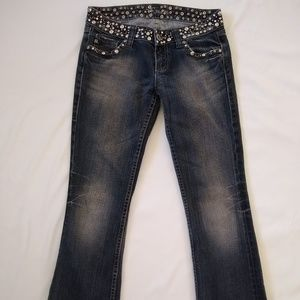 Miss Me Blue Jeans with Rhinestones and Studs 27